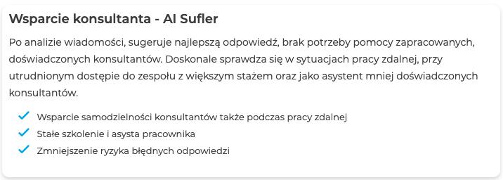 Wsparcie konsultanta - AI Sufler